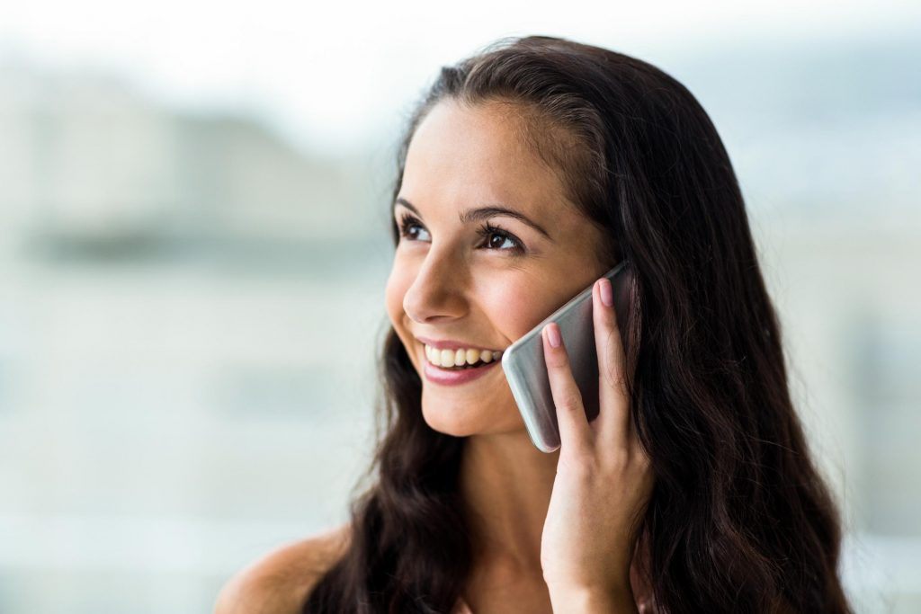 lady on a phone call